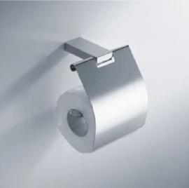 Wiesbaden Eris toiletrolhouder met klep, chroom