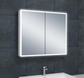 Wiesbaden Quatro spiegelkast met LED verlichting 80x70x13 cm