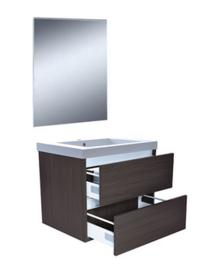 Vision meubelset (incl. spiegel) 60 cm houtnerf grijs