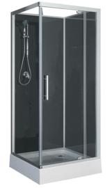 Domino complete douchecabine 90x90x210 cm alu mat 5mm glas
