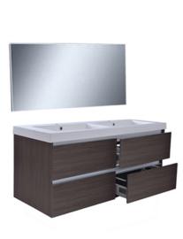 Vision meubelset (incl. spiegel) 120 cm houtnerf grijs