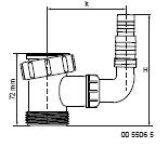 Mcalpine 5506 t-stuk + haakse slangtule (tbv was-& afwasmachine)