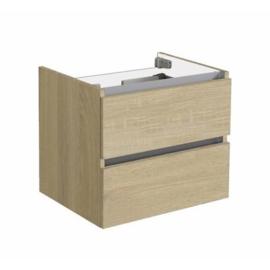 Trendline onderkast met greeplijst aluminium light wood 60cm