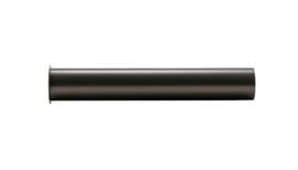 sifon-verlengbuis 20cm met kraag Gunmetal