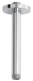 Wiesbaden douchearm 15 cm rond met plafondbevestiging, chroom