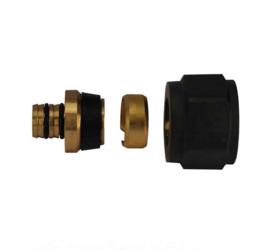 Riko luxe adaptor 16x2,0 Eurok. mat-zwart