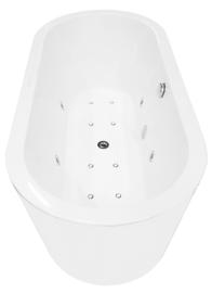 Libero vrijstaande whirlpool ligbad wit 170x80 + waste chroom