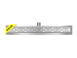 Eco RVS douchegoot met muurflens 60-100 cm
