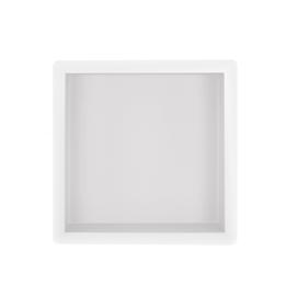 Wiesbaden inbouwnis 30x30x10cm mat wit