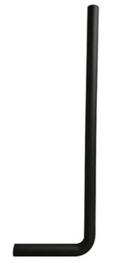 mat zwart vloerbuizen 750x220x32 lang