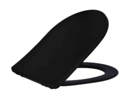 Wiesbaden Shade Slim toiletzitting + deksel one-touch mat-zwart
