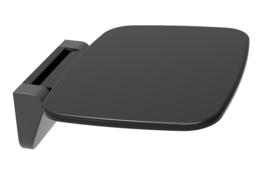 douche-stoel wandmontage opklapbaar zwart