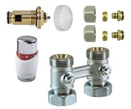 paneel-aansluitset thermostatisch recht