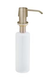inbouw zeeppompje geborsteld messing kunststof fles 250ml