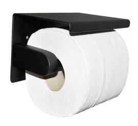 Brush toiletrolhouder mat-zwart