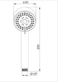 Wiesbaden Cadans handdouche, verstelbaar, geborsteld staal