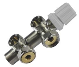 Riko thermostatisch 3/4 onderblok geborsteld staal haaks-rechts of haaks-links