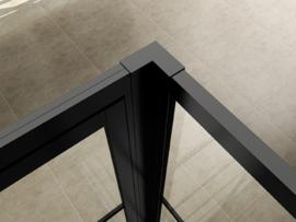 Horizon koppelset inloopdouche met nisdeur mat zwart