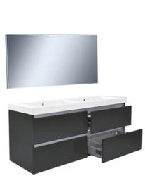 Vision meubelset (incl. spiegel) 120 cm hoogglans grijs