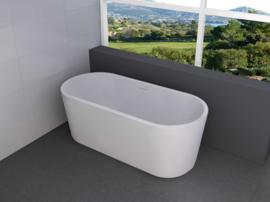 Libero vrijstaand ligbad acryl 178 x 80 x 58,5 cm mat wit