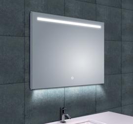 Wiesbaden Ambi One LED condensvrije spiegel 80x60x3,7 cm