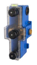 Inbouwdeel+box 3-wegs douchethermostaat