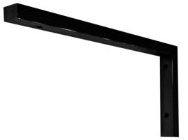 mat-zwart L- supportbeugel 46x22