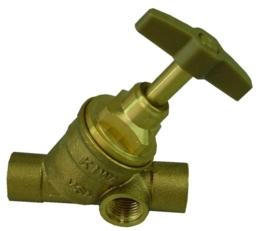 Kiwa stopkraan 12 mm, 15 mm of 22 mm capxcap (met aftap)
