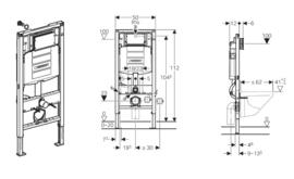 Geberit Duofix UP320 inbouwreservoir + frame + isolatieset en bevestigingsset