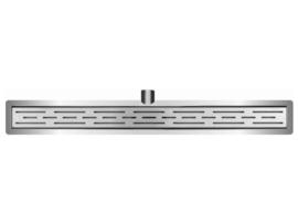 Wiesbaden RVS douchegoot met flens, uitneembare sifon en rooster 50-120 cm