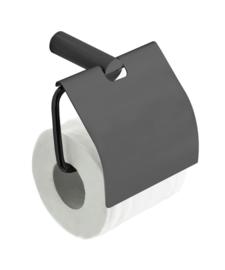 Ida toiletrolhouder met klep Gunmetal