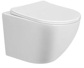 Nibiru Rimless verkort wandcloset 48cm+ softclose zitting wit
