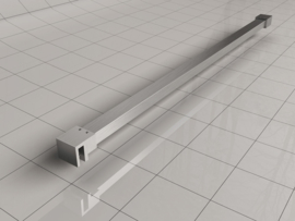 Wiesbaden Slim stabilisatiestang 120 cm geborsteld staal