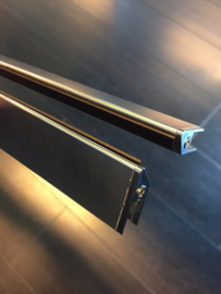 Wiesbaden set magneetstrips (tbv swingdeur met zijwand) chroom