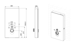 Sensor voorzetreservoir+ombouw zwart