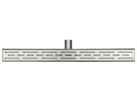 Wiesbaden RVS douchegoot met uitneembare sifon en rooster 70-100 cm