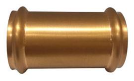 geborsteld koper koppelstuk 32mm tbv vloerbuis