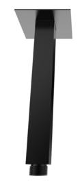 luxe douche-arm vierkant plafondbev. 30cm mat-zwart
