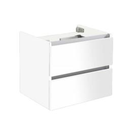 Trendline onderkast met greeplijst aluminium hoogglans wit 60cm