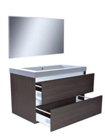 Vision meubelset (incl. spiegel) 80 cm houtnerf grijs