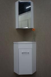 Wiesbaden Lena hoekfontein met onderkast, wastafel en spiegelkast