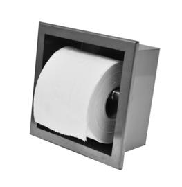 inbouw-toiletrolhouder RVS