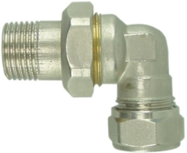 "Radiatorkoppeling 3-delig 1/2""x15 mm knel haaks"