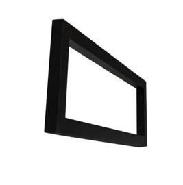 mat-zwarte vierkante supportbeugel 40x14