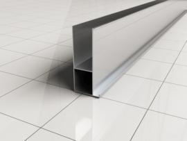 Wiesbaden verbredingsprofiel 3x200 cm aluminium