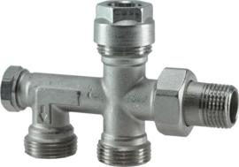 "M-350 4 w.verdeler 1/2"" Euro + adaptor 15 mm"