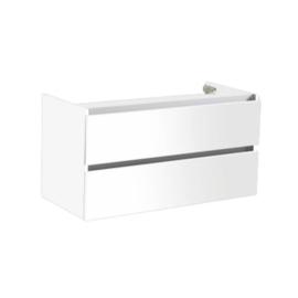 Trendline onderkast met greeplijst aluminium hoogglans wit 80cm