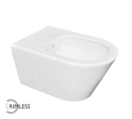 Luxe rimless wandcloset 53 cm met bidet-functie mat-wit