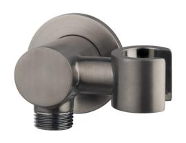 Luxe doucheaansluiting+kantelb.opsteek 1/2'' Gunmetal