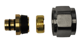 Riko luxe adaptor 16x2,0 Eurok. geborsteld staal